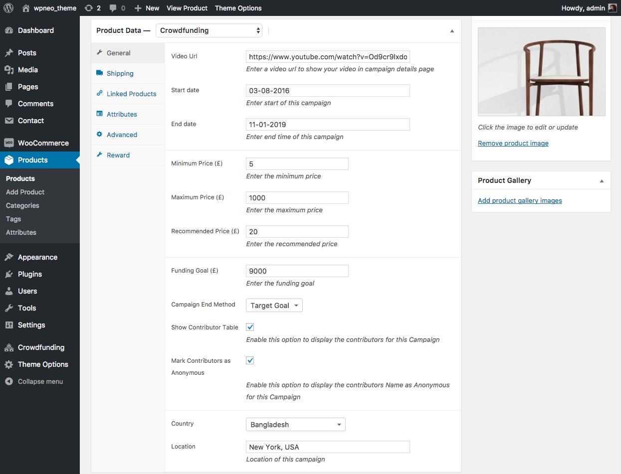 WP Crowdfunding - Premium WordPress Crowdfunding Plugin