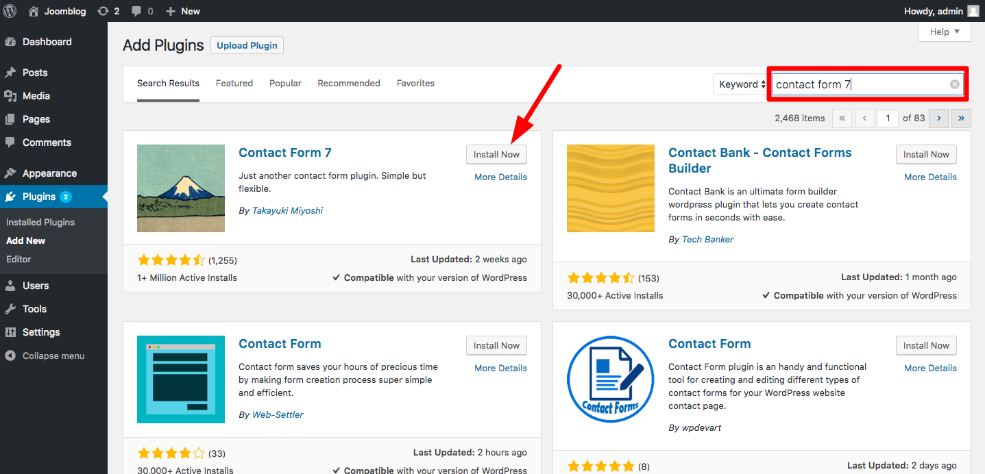 How to integrate Contact Form 7 to your WordPress site - The