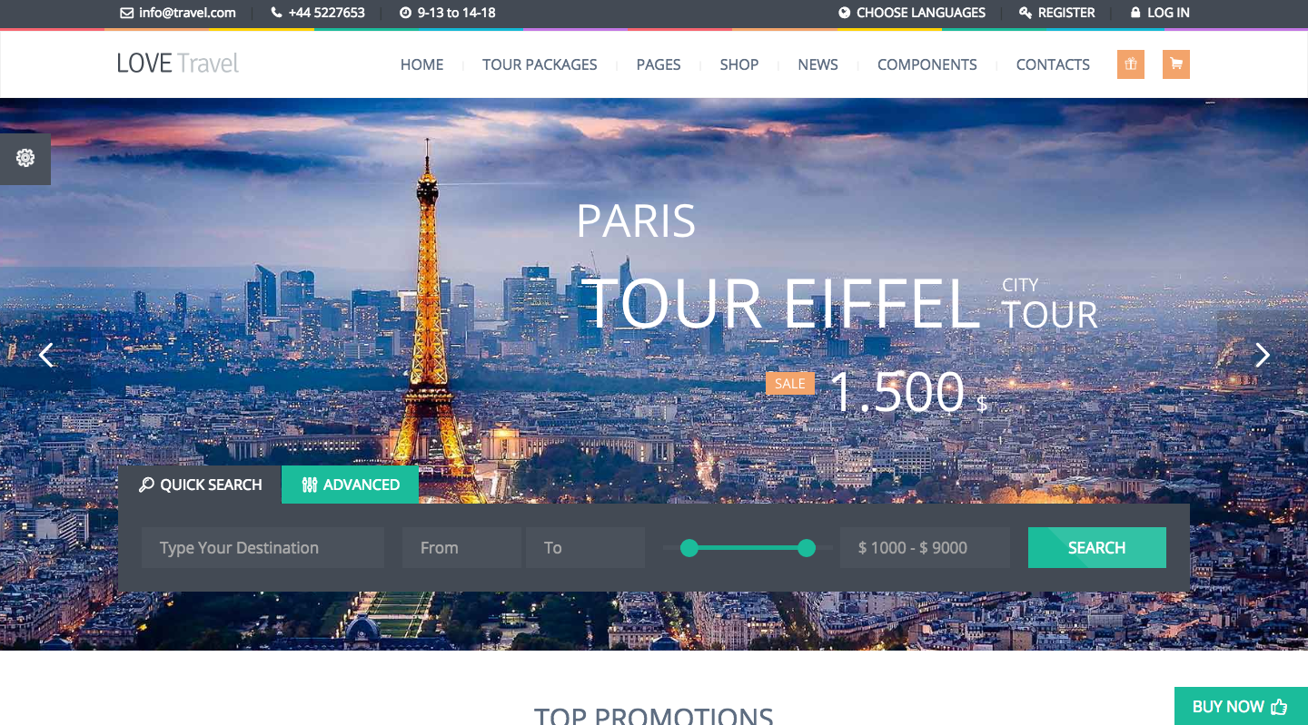 Love Travel Can Be A Right Pick For Some Companies And Tour Operators This Theme Is Highly Recommended Its Sleek Design System Of Custom