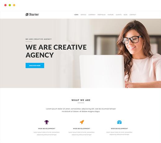 Starter - Responsive OnePage WordPress Theme | Themeum