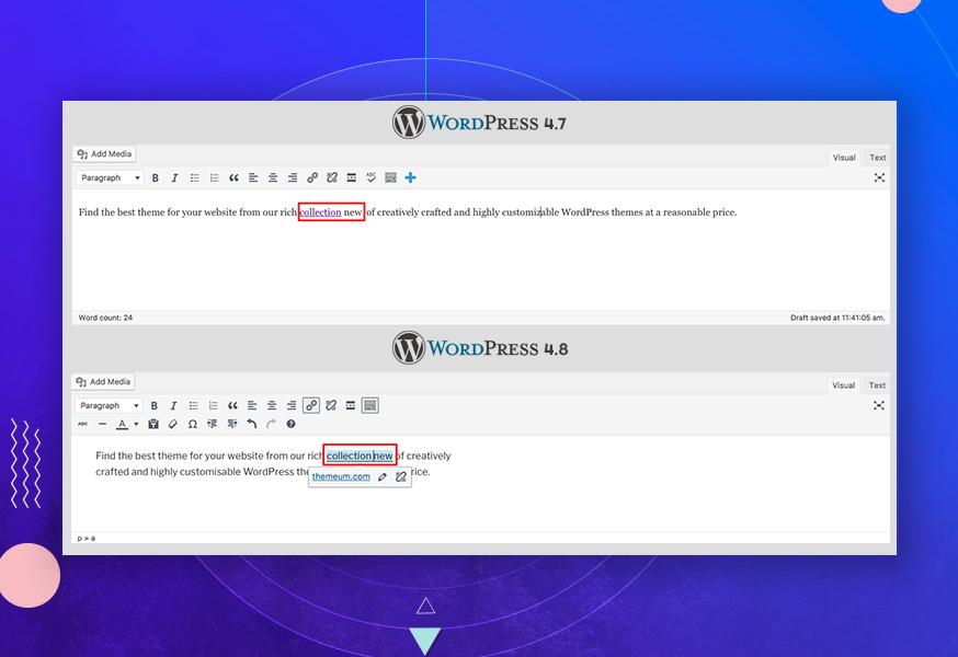 What\'s new in WordPress 4.8? - Themeum