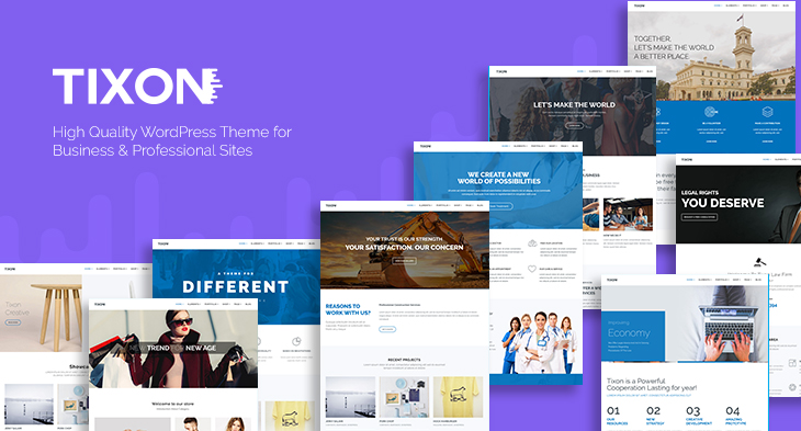 Introducing Tixon: Multipurpose WordPress theme for business and ...