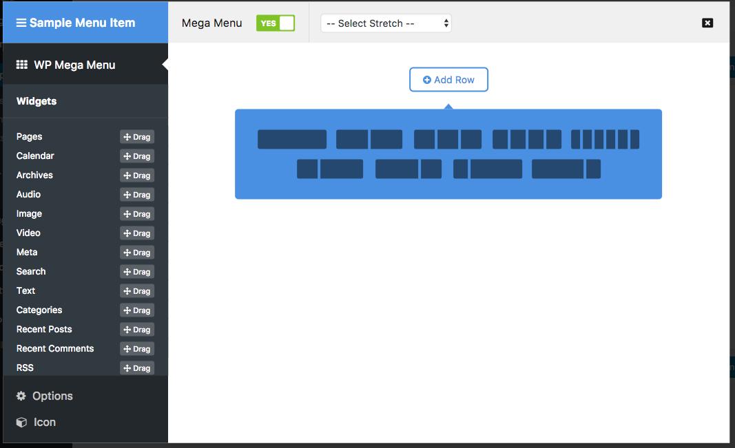 WordPress mega menu