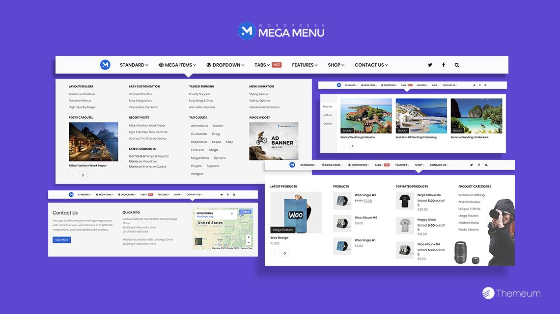 how to create a mega menu in a wordpress theme