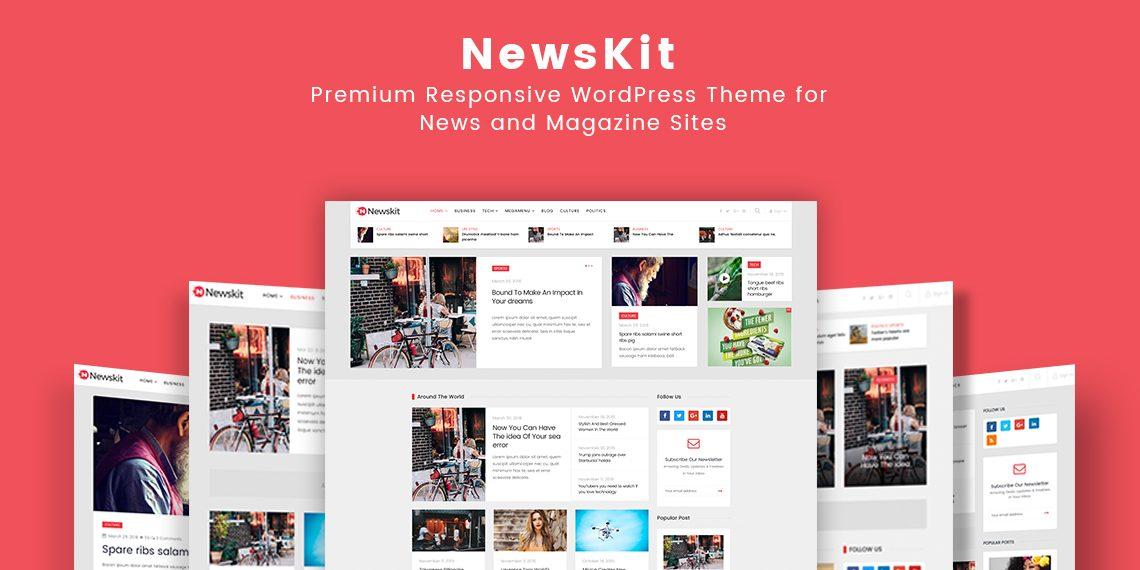 Presenting Newskit Premium Wordpress Theme For News And Magazine