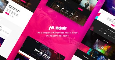 WordPress music event management theme