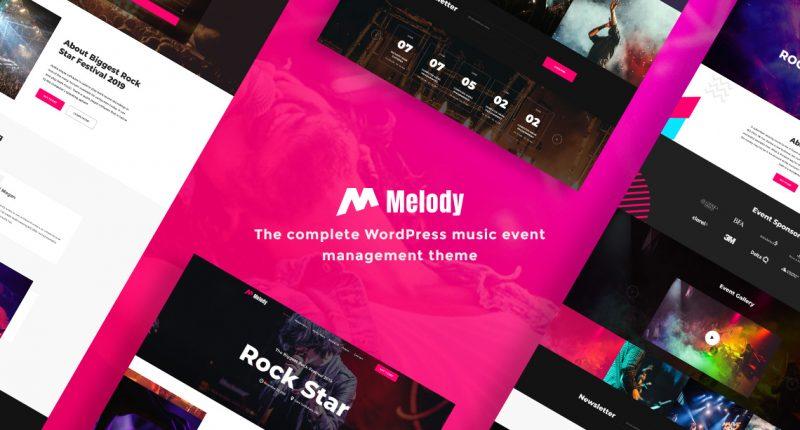 WordPress music event management theme