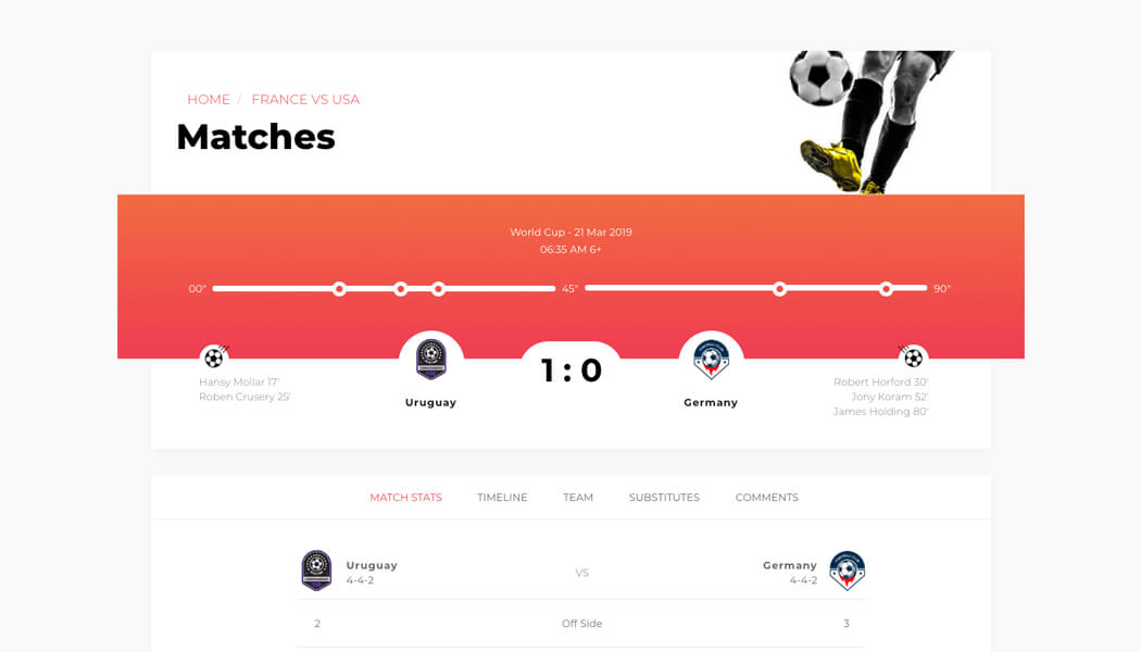hot sale online a0199 5824a Calcio - WordPress Soccer theme for covering and managing tournaments online