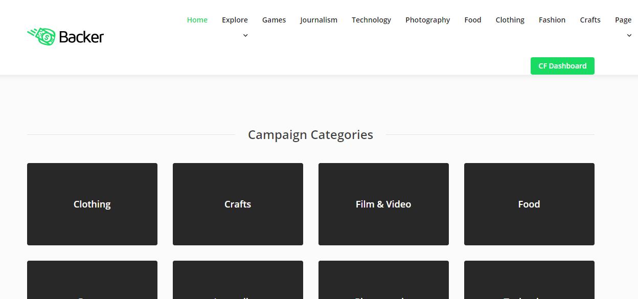 Install WordPress crowdfunding theme