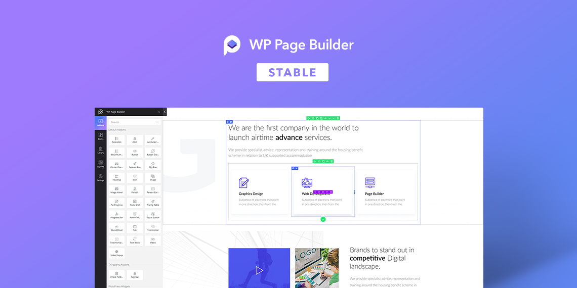 WP Page Builder stable