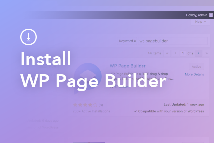 2. Page Builder Installation