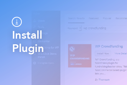 How to install WP Crowdfunding plugin?