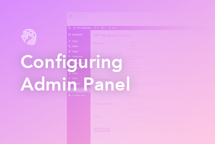 3. Configuring Admin Panel for customization
