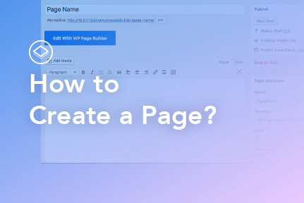 4. How to create a page?