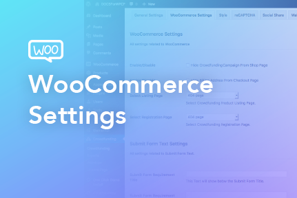 Woocommerce Settings