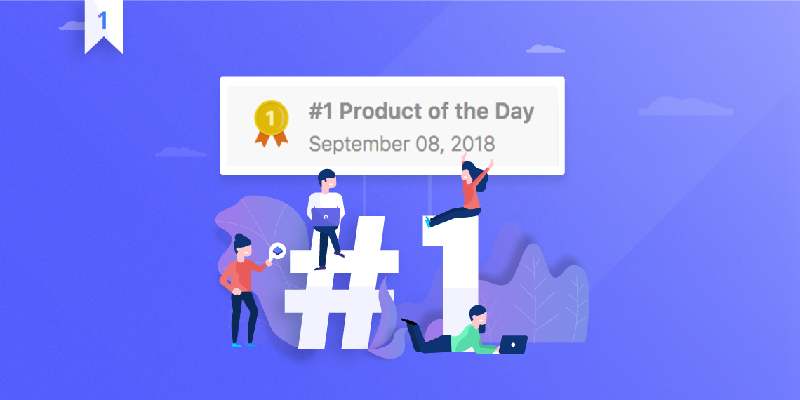 wp page builder becomes  1 on product hunt