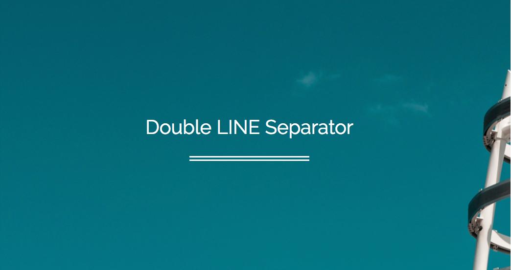 Double line separator