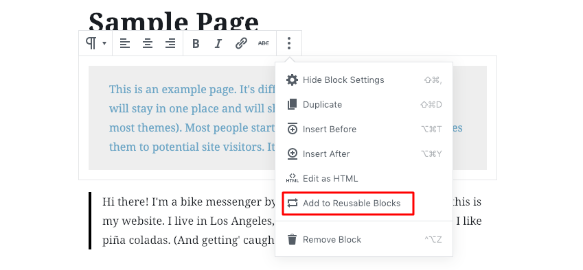 WordPress Gutenberg offers the option for reusable blocks.