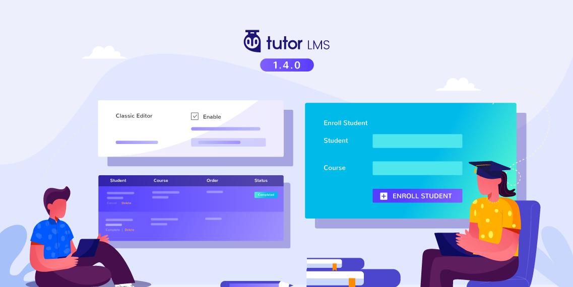 Tutor LMS v1 4 0: Page Builder Support, Manual Enrollment