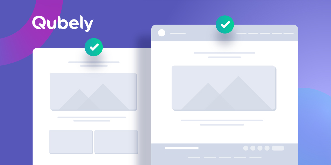 Qubely Gets 2 Page Templates With 2x Performance Boost Themeum