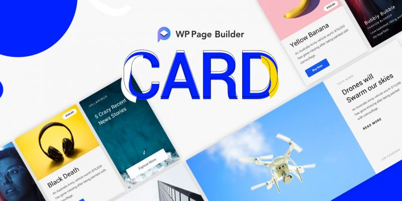 WP Page Builder Card Addon