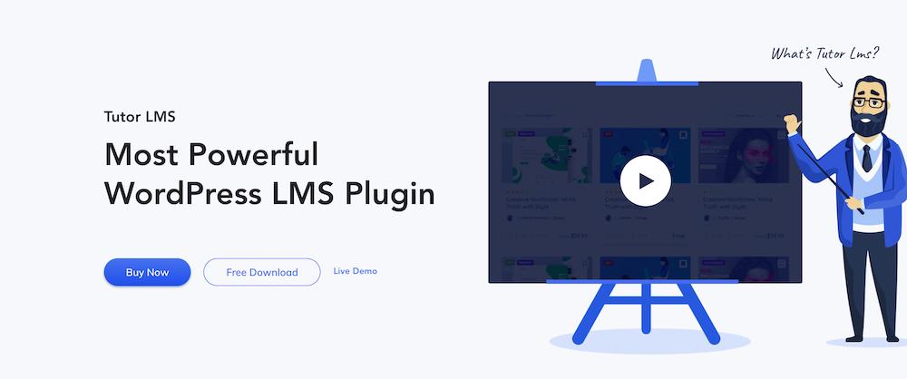 Tutor LMS Webpage Screenshot