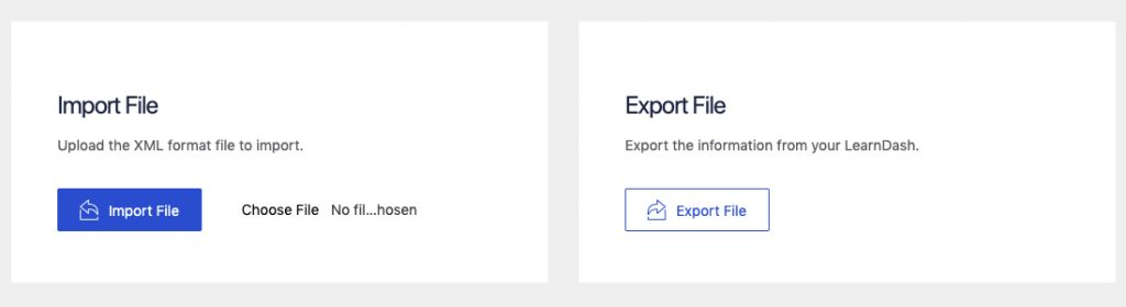 tutor lms learndash migration manual export import option