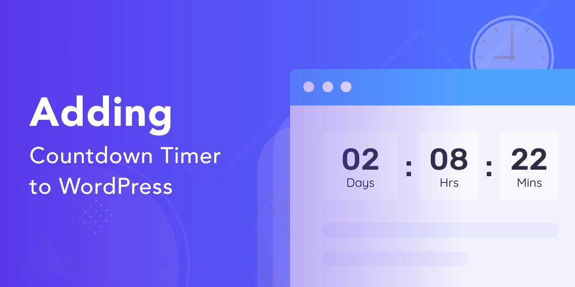 create a countdown timer with WordPress & gutenberg