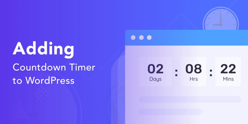 create a countdown timer with WordPress & gutenberg