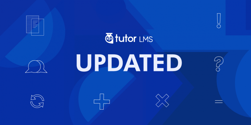 Tutor LMS update v1.6.1