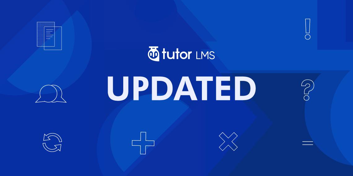 Tutor LMS update v1.6.1