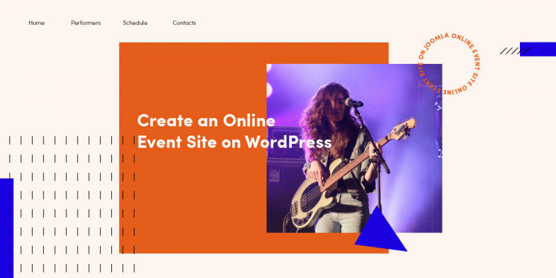 Create an online event site with WordPress