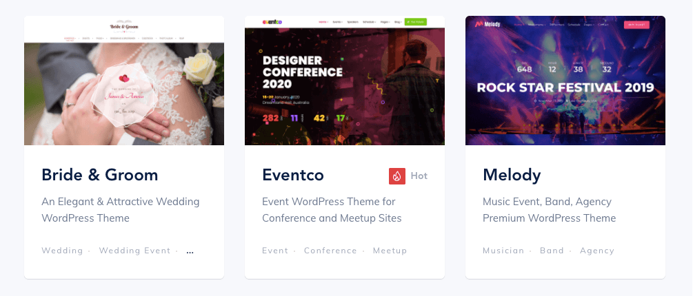 Choose an Event Theme for Your Site