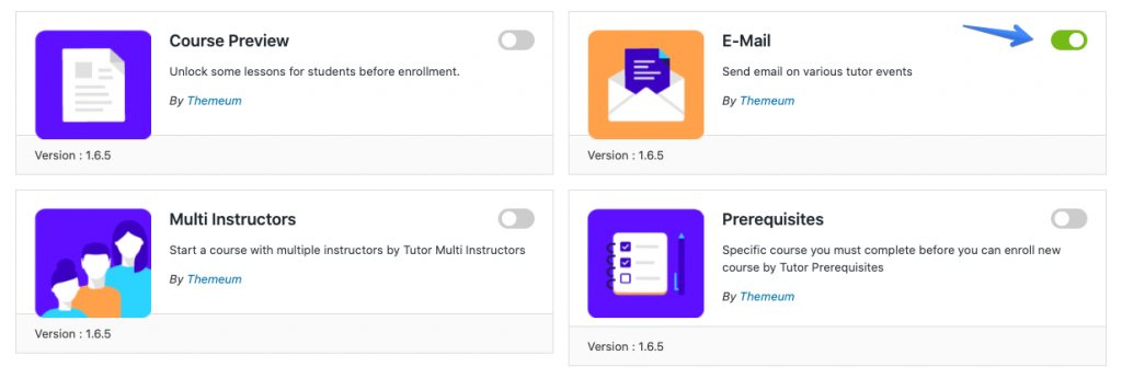 tutor lms email add-on interactive language course