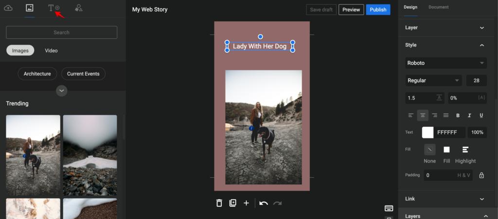 Google web stories example