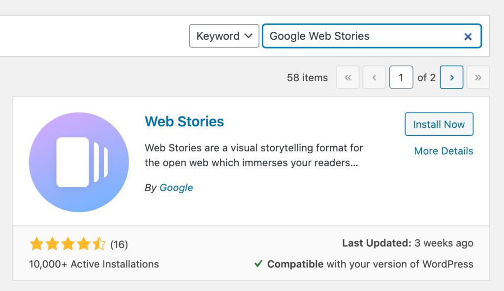 Web Stories WordPress