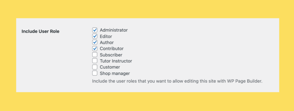 Changed the User Role Select Box with Proper Privileges and Defaults with include user roles option